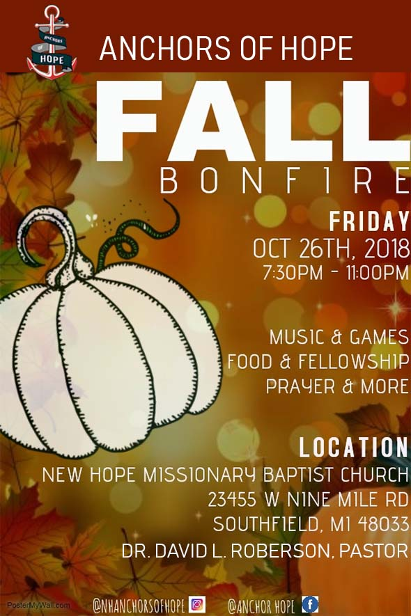 Anchors Of Hope 2018 Bonfire event